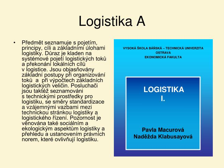 Logistika A