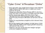 cyber crime di perusahaan online