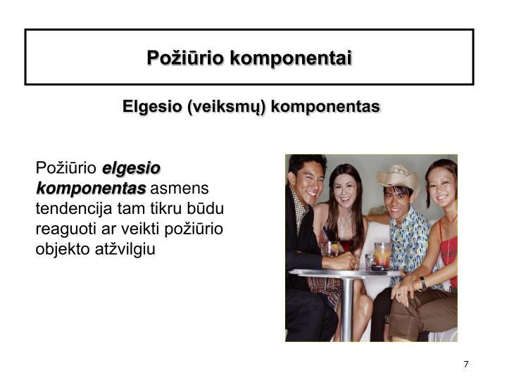 Požiūrio komponentai