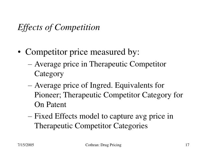 Effects of Competition