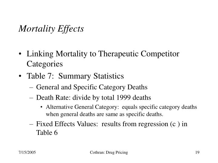 Mortality Effects