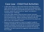 case law child find activities