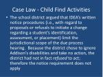 case law child find activities1