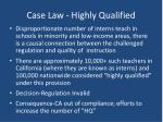 case law highly qualified2