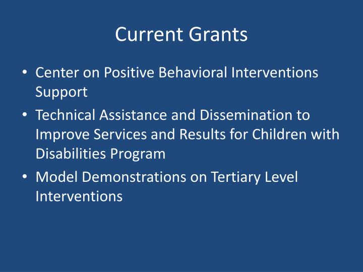 Current Grants