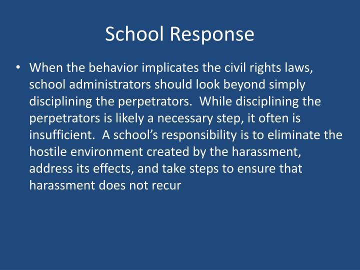 School Response