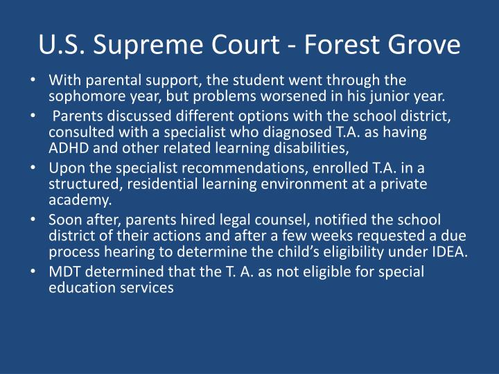 U.S. Supreme Court - Forest Grove