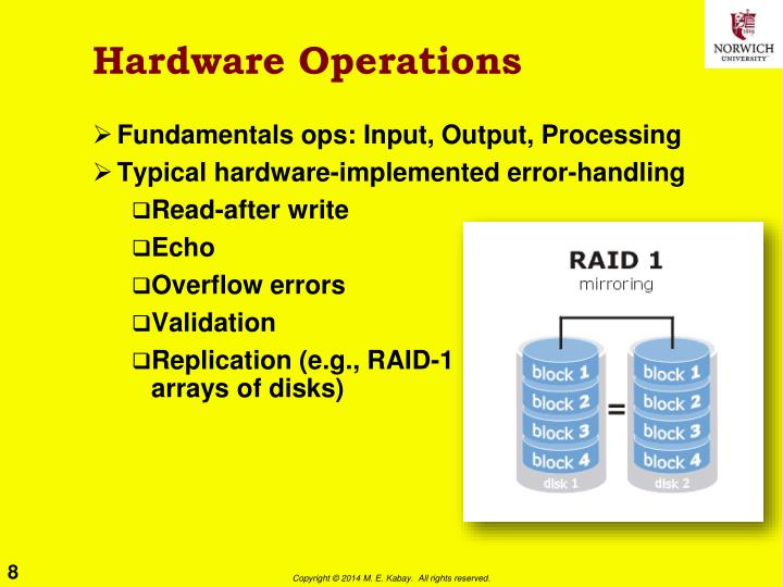 Hardware Operations