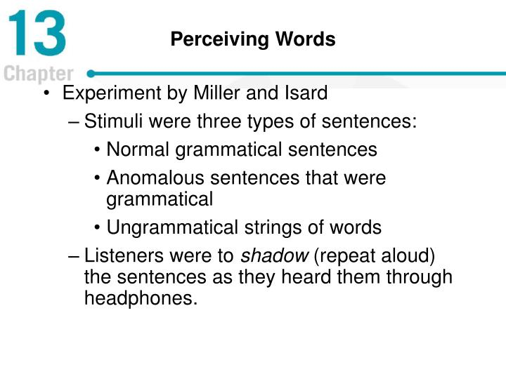 Perceiving Words