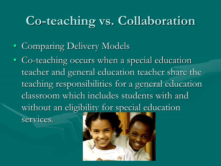 Co teaching vs collaboration