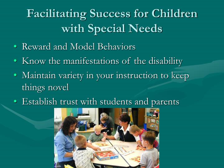 Facilitating Success for Children with Special Needs