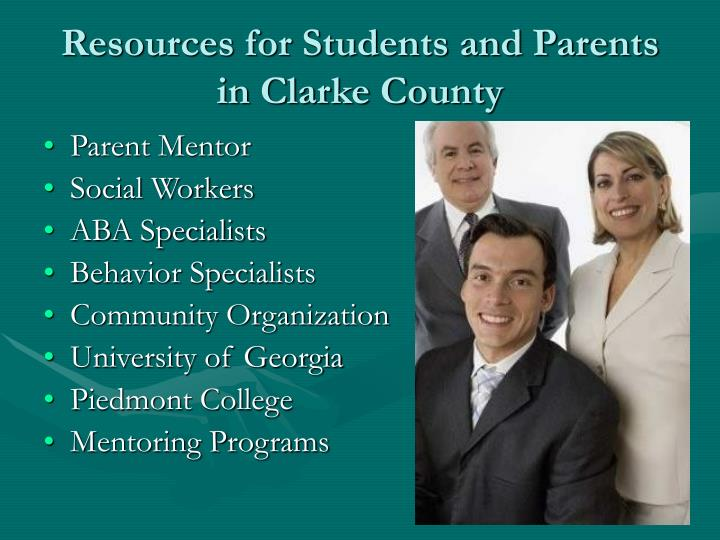 Resources for Students and Parents in Clarke County