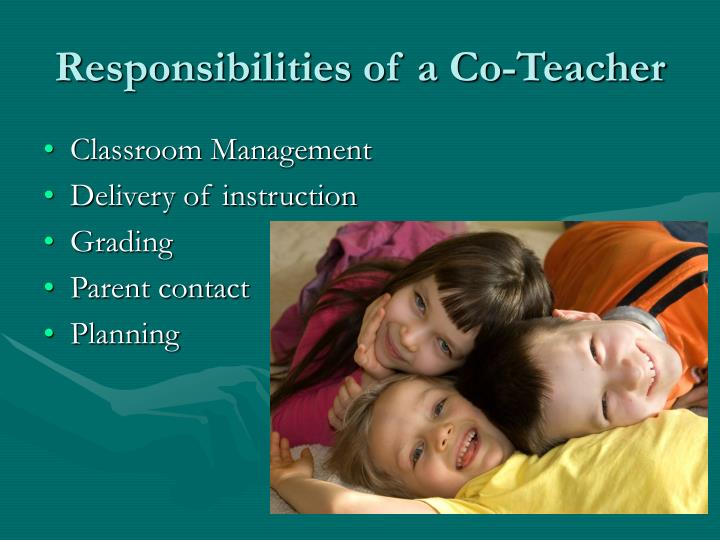 Responsibilities of a Co-Teacher