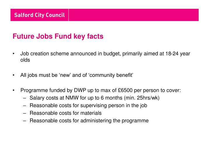 Future Jobs Fund key facts
