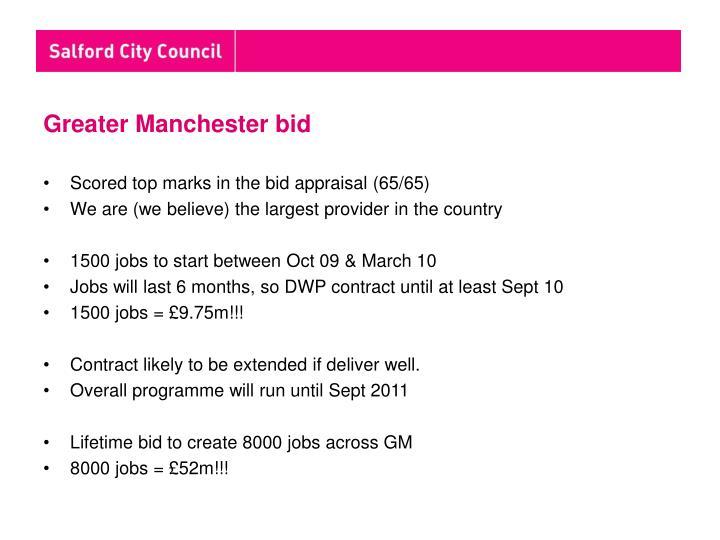 Greater Manchester bid