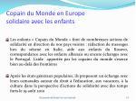 copain du monde en europe solidaire avec les enfants