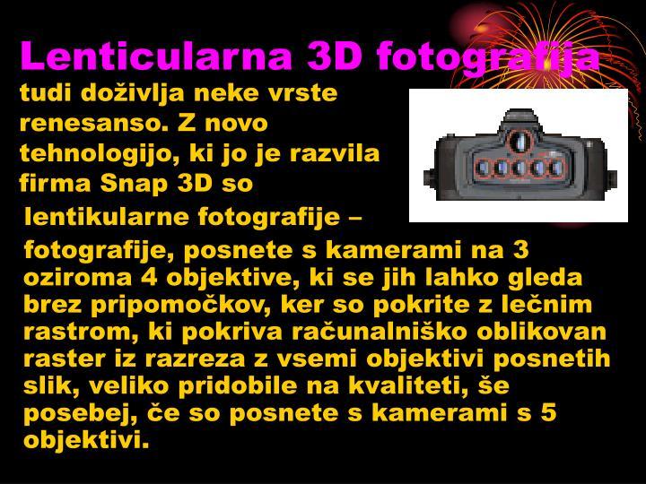 Lenticularna 3D fotografija