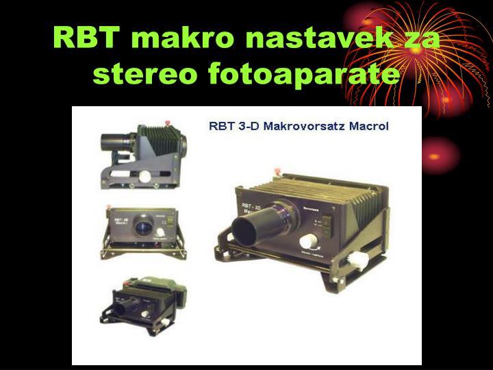 RBT makro nastavek za stereo fotoaparate