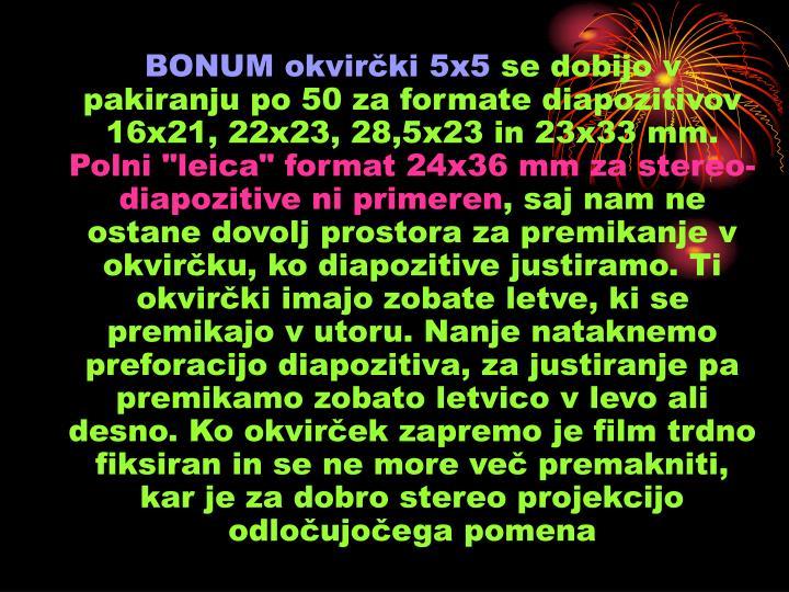 BONUM okvirčki 5x5