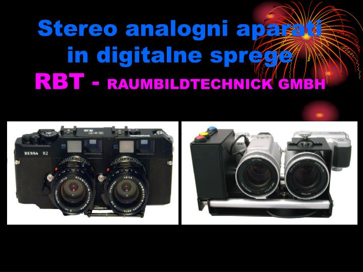 Stereo analogni aparati in digitalne sprege
