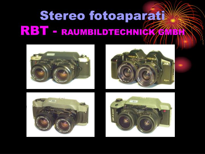 Stereo fotoaparati