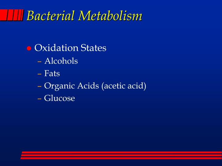 bacterial metabolism Read chapter 5 microbial metabolism and physiology: nasa's exploration of  planets and satellites during the past 50 years has led to the discovery of trac.