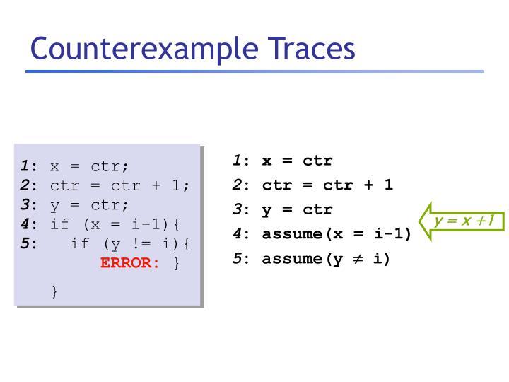 Counterexample Traces