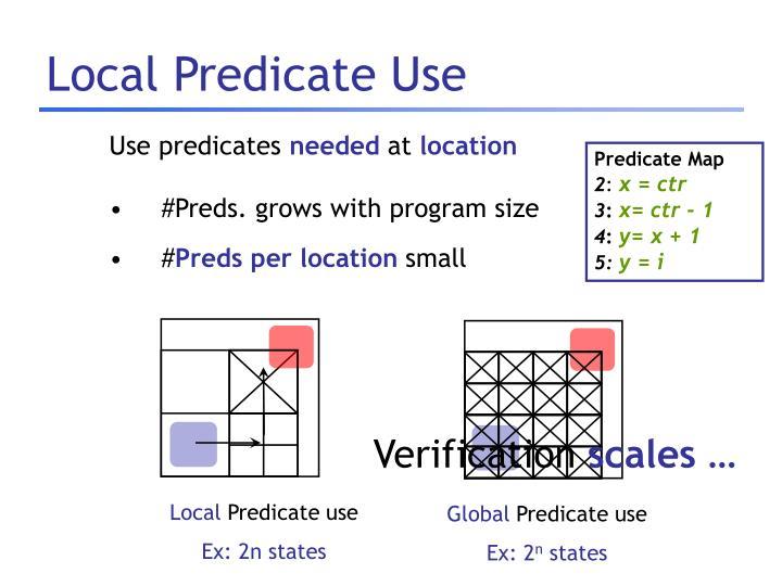 Local Predicate Use