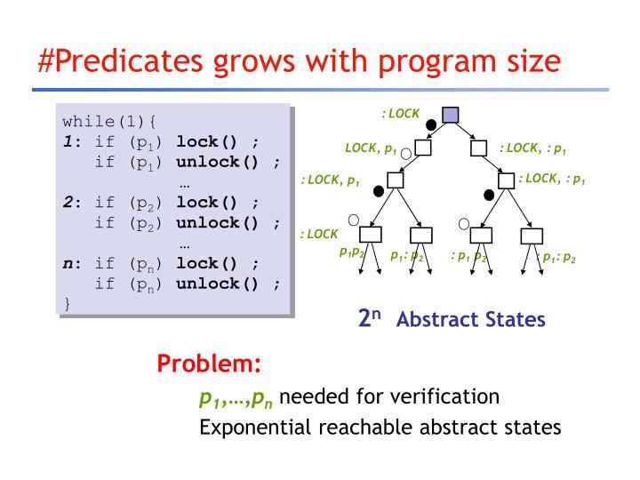 #Predicates grows with program size