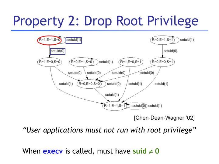 Property 2: Drop Root Privilege