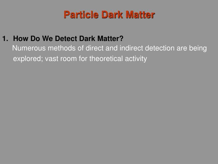 Particle Dark Matter