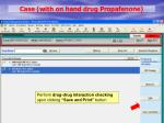 case with on hand drug propafenone6