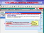 case with on hand drug propafenone8