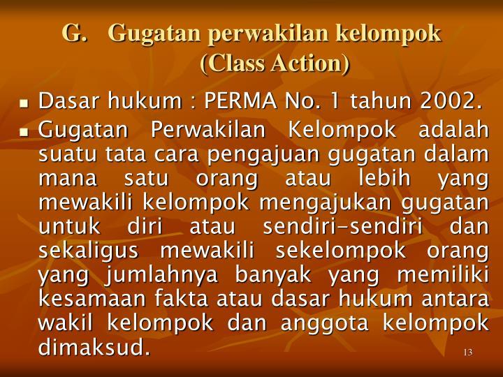 Gugatan perwakilan kelompok (Class Action)