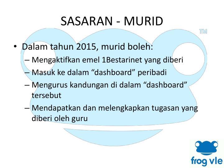 SASARAN - MURID