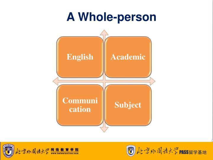 A Whole-person