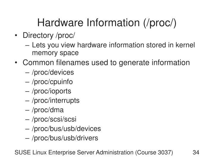 Hardware Information (/proc/)
