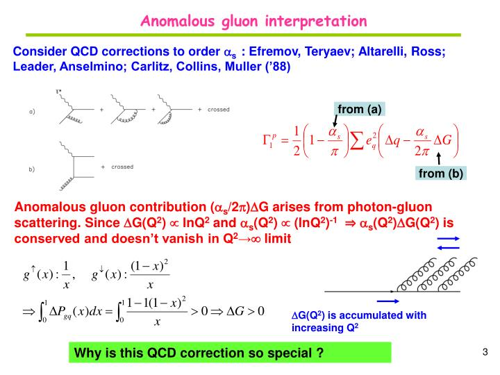 Anomalous gluon interpretation