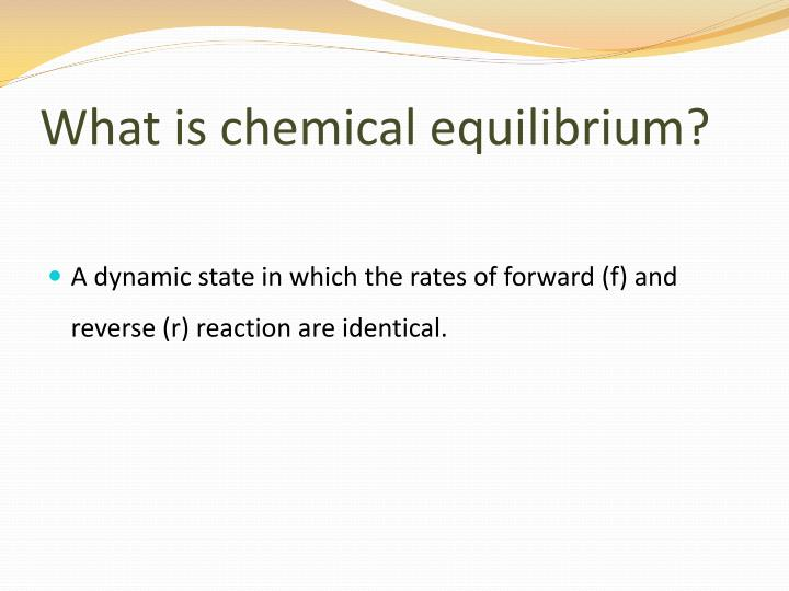 What is chemical equilibrium