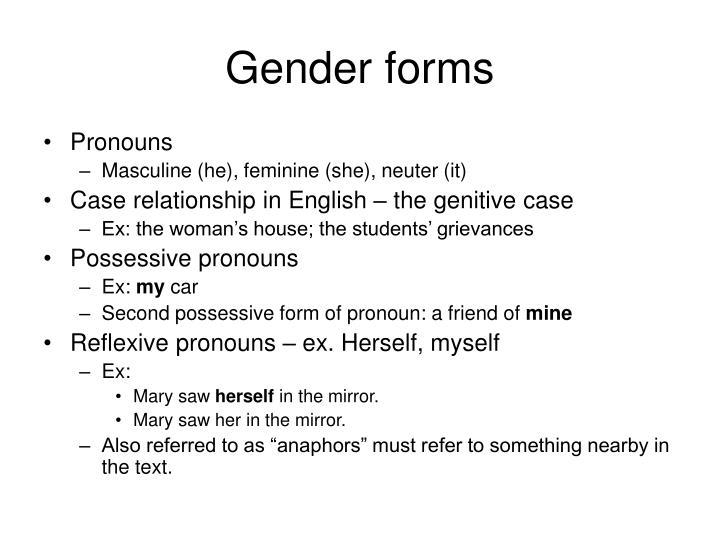 Gender forms