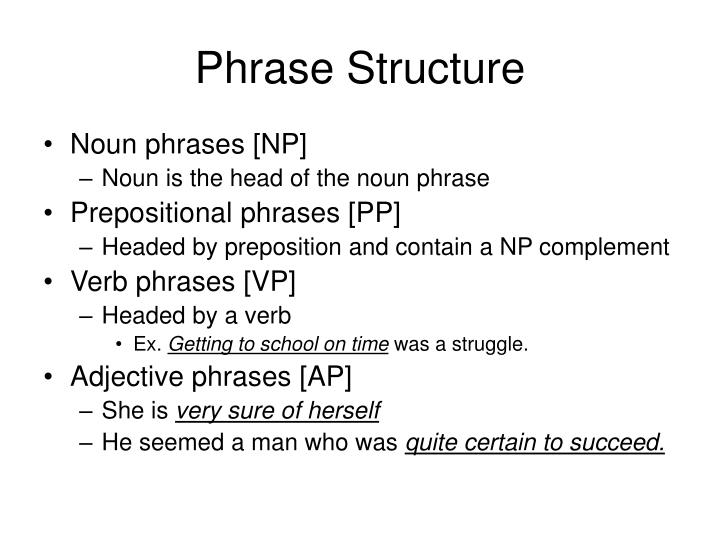 Phrase Structure