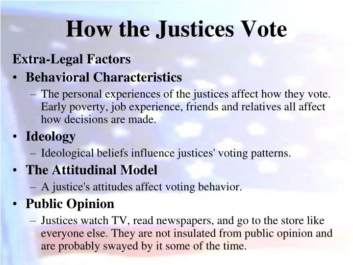 How the Justices Vote