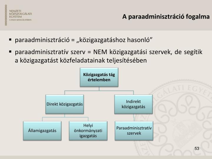 paraadminisztráció