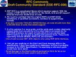 rfc comments draft community standard ese rfc 0081