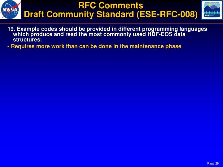 RFC Comments