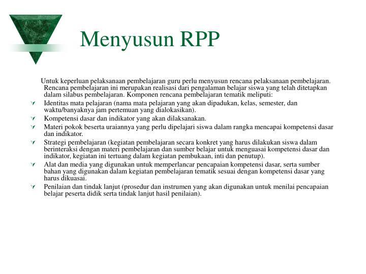 Menyusun RPP