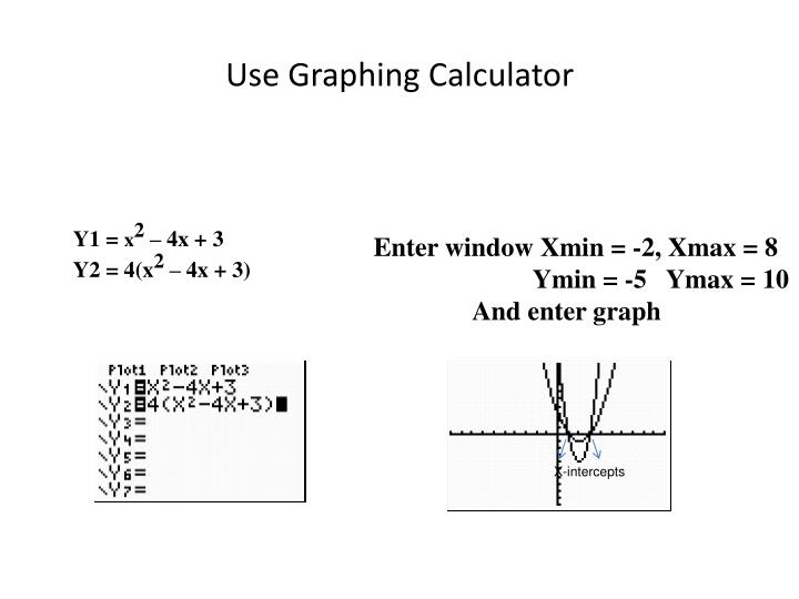Use Graphing Calculator