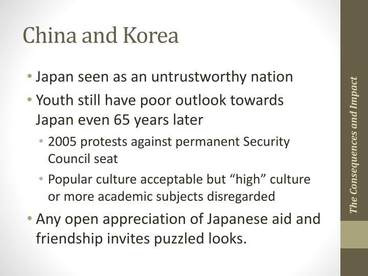 China and Korea