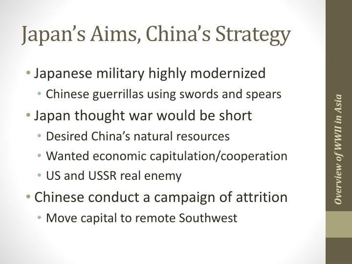 Japan's Aims, China's Strategy