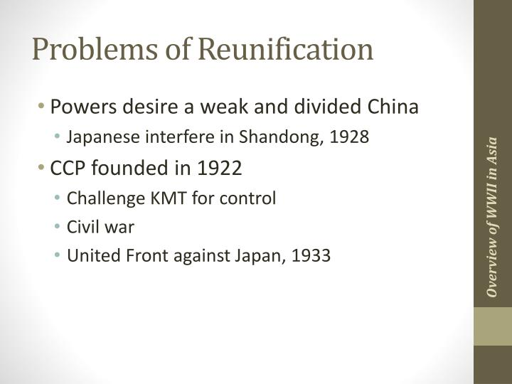 Problems of Reunification
